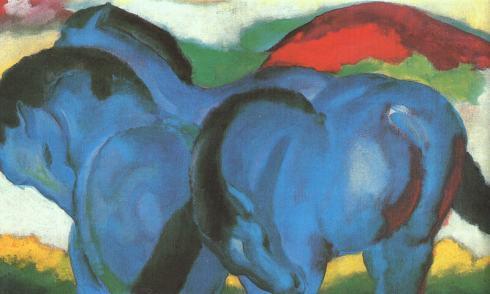 Marc-little_blue_horses