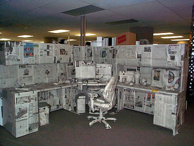 real-prank-photo-office-wrapped-up-with-newspaper