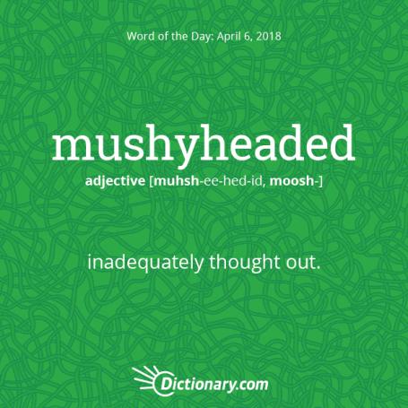 Mushyheaded – Friday's Word of the Day | like mercury
